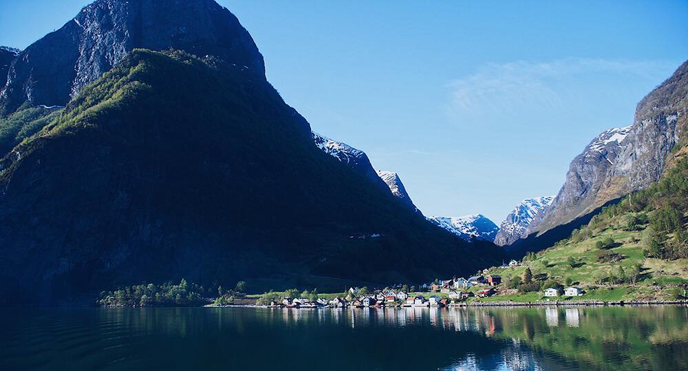 挪威峽灣郵輪風景