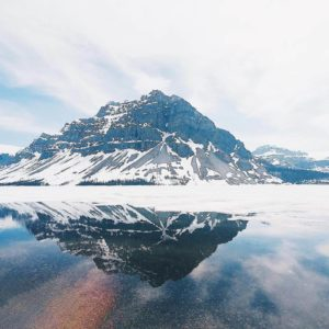 banff bow lake 超大的弓湖