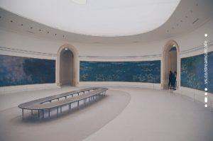 橘園美術館 牆面大的莫內睡蓮