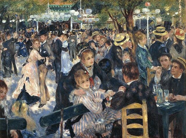 雷諾瓦,煎餅磨坊的舞會, 奧塞美術館必看。