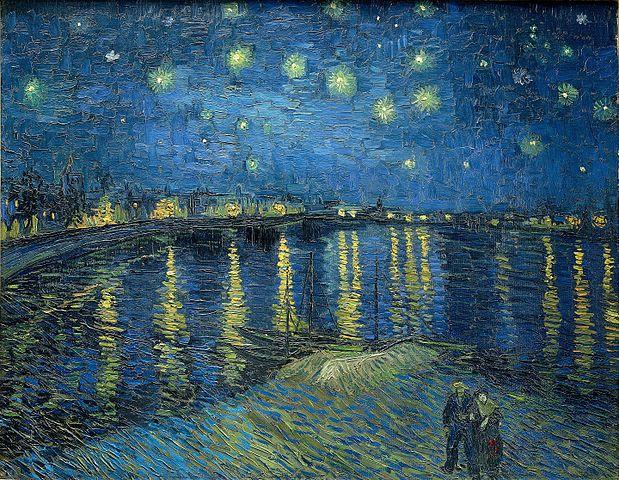 奧塞美術館必看-羅納河上的星夜(梵谷)