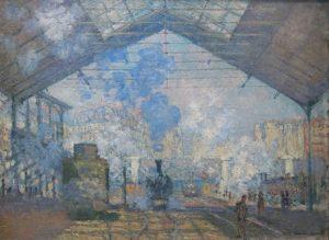 莫內作品 巴黎 聖拉扎爾火車站