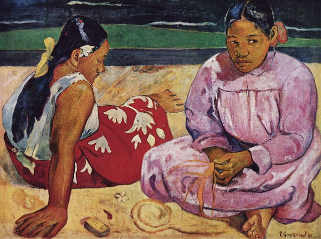 奧塞美術館必看,沙灘上的大溪地女人(保羅高更)