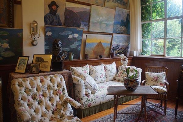莫內故居 客廳與牆上畫作收藏