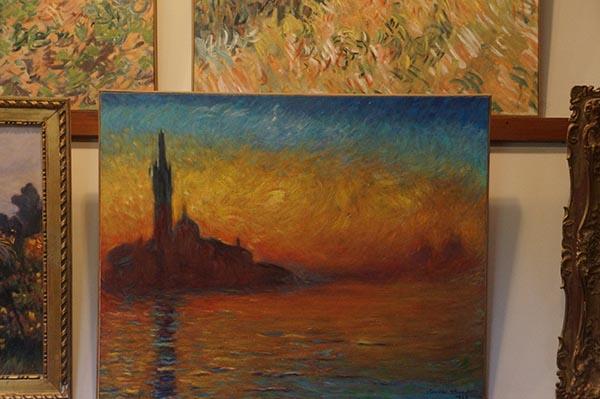 莫內故居 牆上畫作