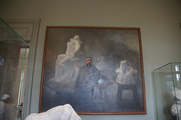 羅丹與其雕塑作品之畫作