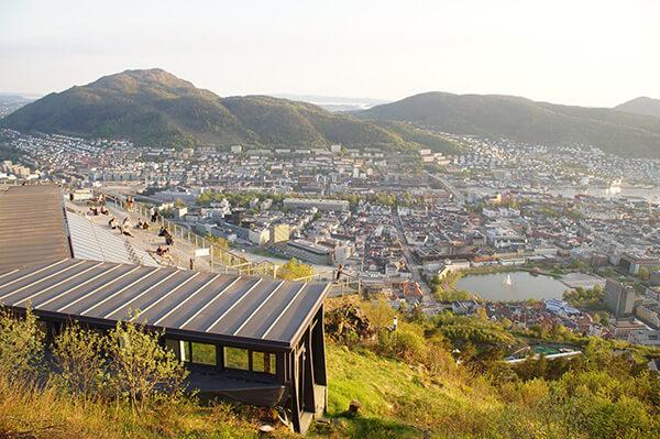 挪威縮影 卑爾根纜車終點