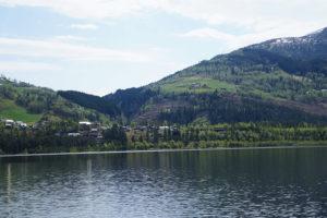 voss大湖美麗的景緻。