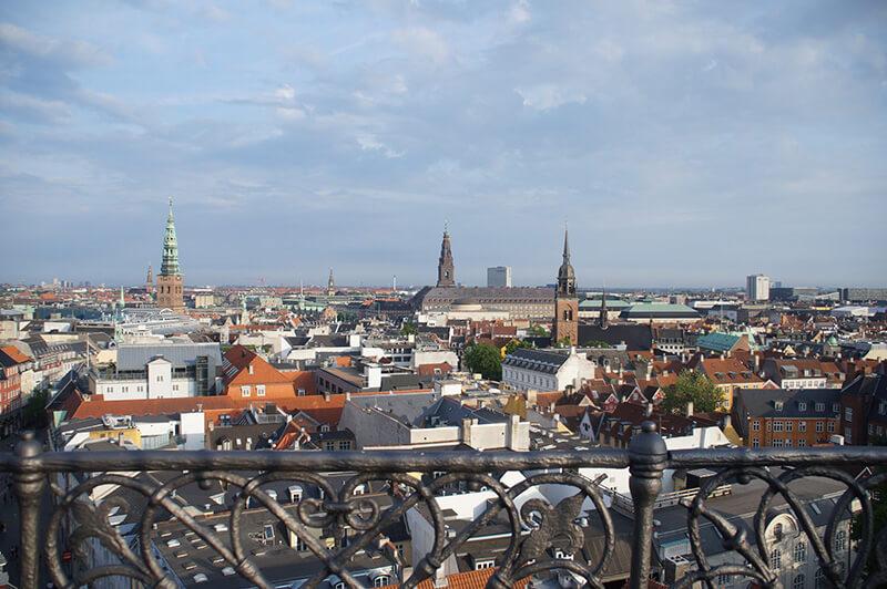 圓塔頂端的風景!眺望哥本哈根市區!