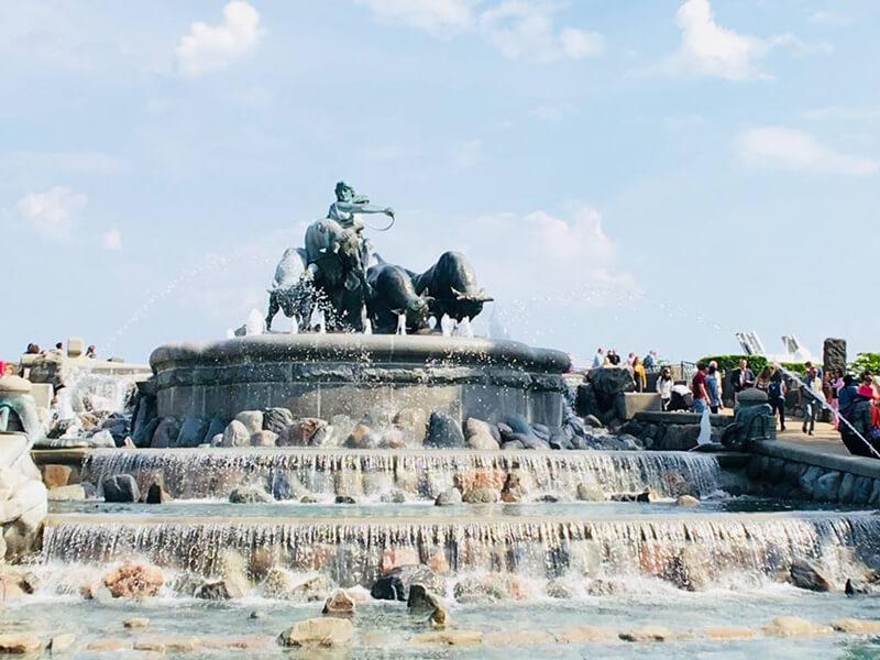 哥本哈根最大許願池,北歐女神吉菲昂(Gefjun)噴泉