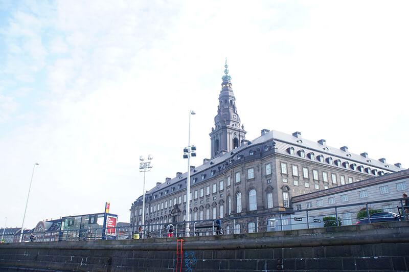 克里斯蒂安堡皇宮,背面。