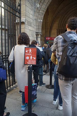 聖禮拜堂門票交通,排隊處。
