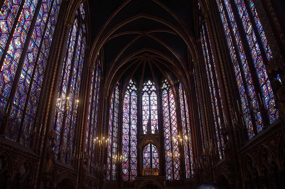 聖禮拜堂,世界最大巴黎最古老最美的彩繪玻璃窗