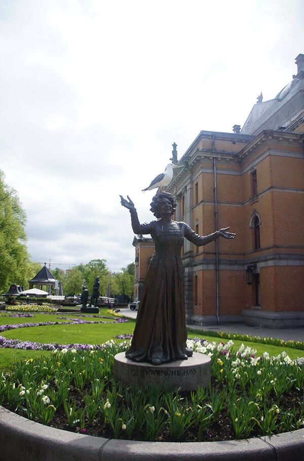 奧斯陸雕像與鳥