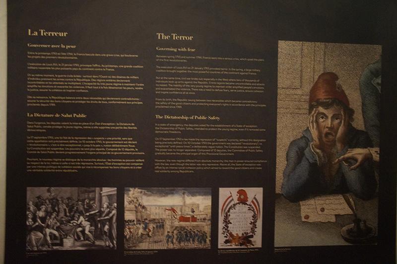 法國大革命始末,隔壁巴黎古監獄內的展板介紹