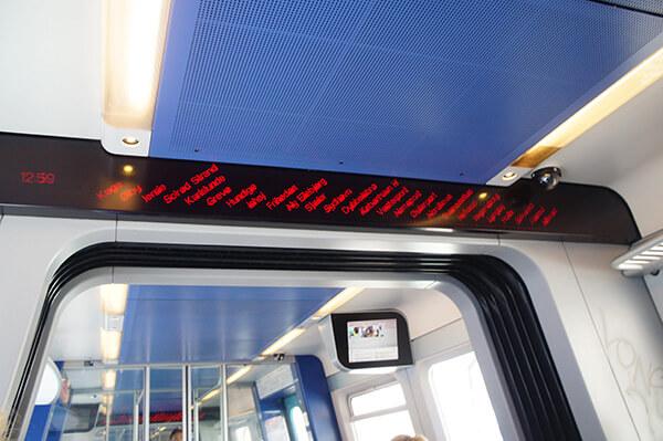 火車內的電子板
