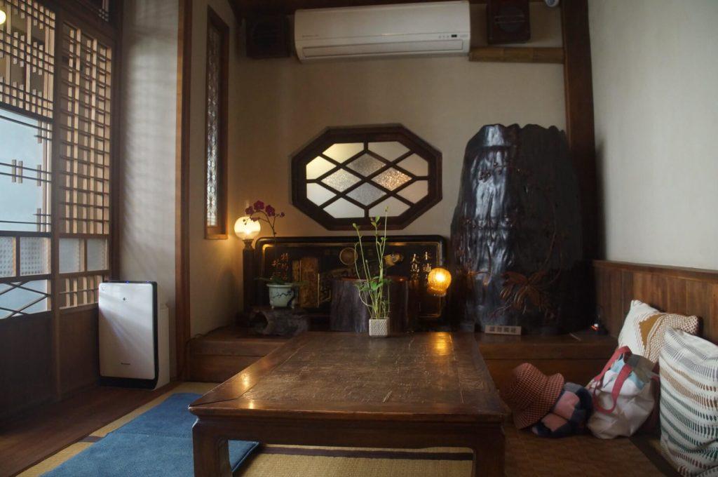台南錫鼓,日式老宅甜點咖啡座位區