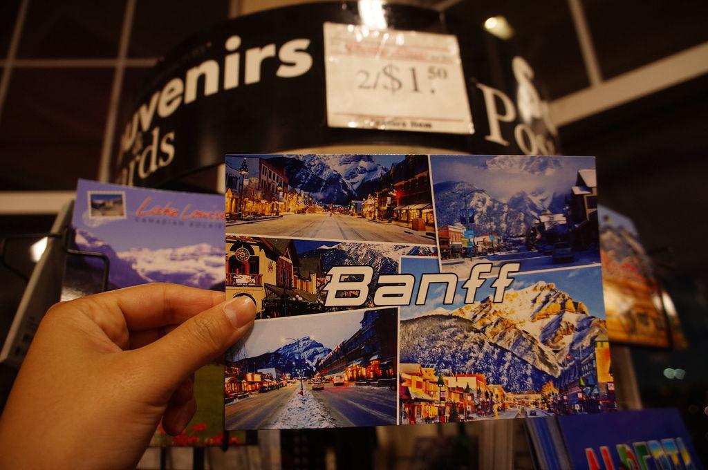 dollar store 看到的不錯的明信片!一定要去的 Banff 小鎮。