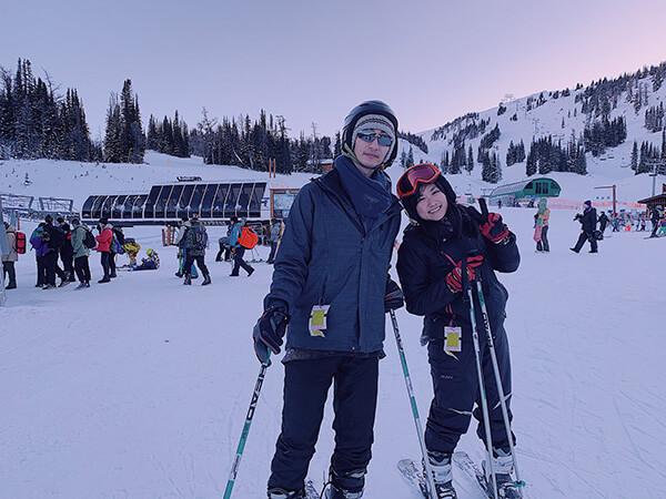我們的第一次banff滑雪經驗!
