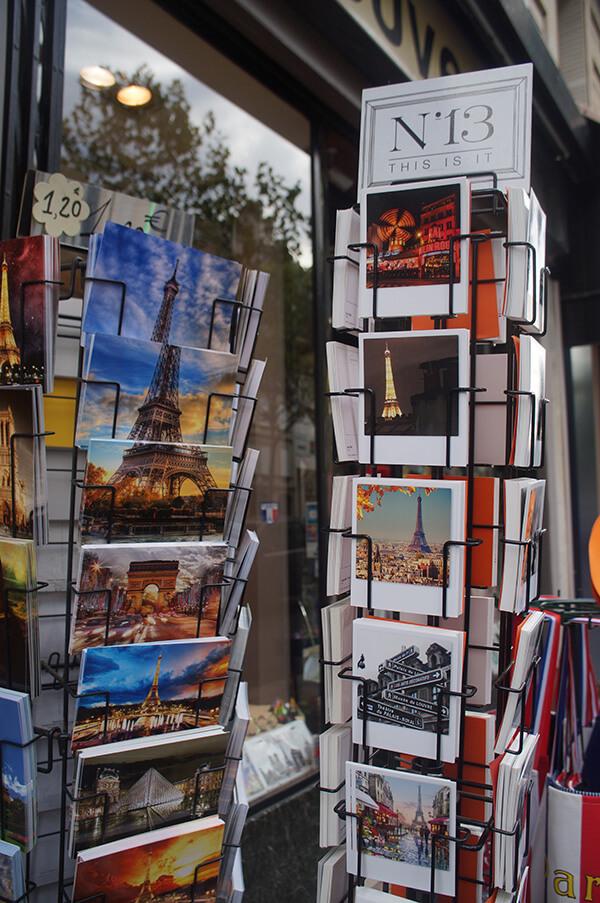 充滿設計感的巴黎鐵塔明信片