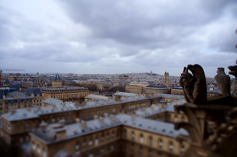 聚焦模式拍巴黎街景