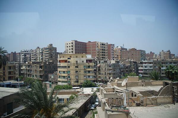 埃及街景,好多的天線盤,