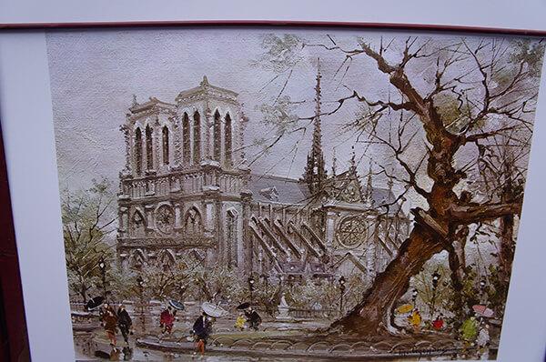 雨天的巴黎聖母院