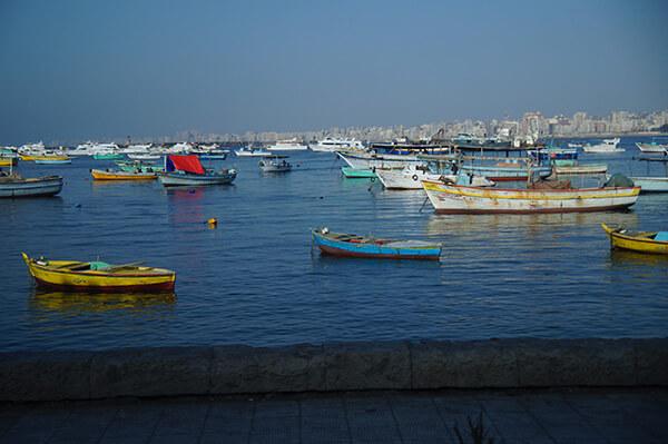 亞歷山卓,近拍彩色的小船們,到底是什麼用途呢?