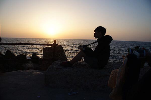 幫朋友拍的夕陽剪影。
