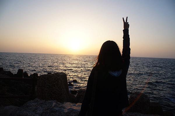 大家都把握跟地中海合照的機會呢~:P