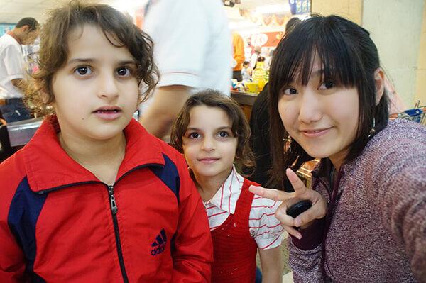 超市與我攀談的小女生,難忘的當地超市之旅。