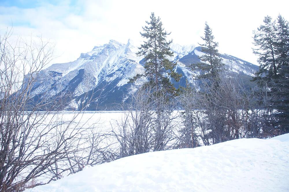 卡加利附近的洛磯山脈,冬天美麗的冰雪奇緣!