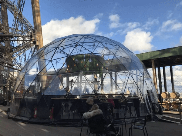 溫室圓頂景觀餐廳 La Bulle Parisienne