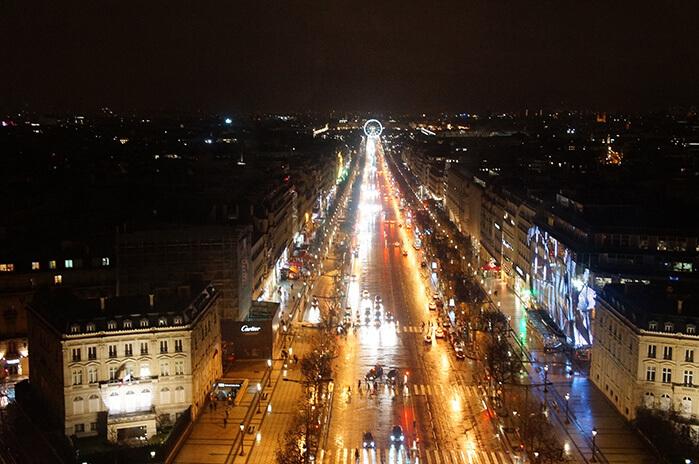 巴黎鐵塔周邊景點,凱旋門夜景