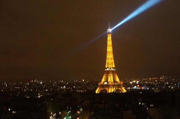 凱旋門上看見的巴黎鐵塔