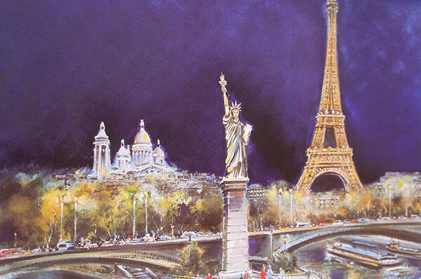 巴黎鐵塔周邊景點,比爾阿克姆橋,自由女神像