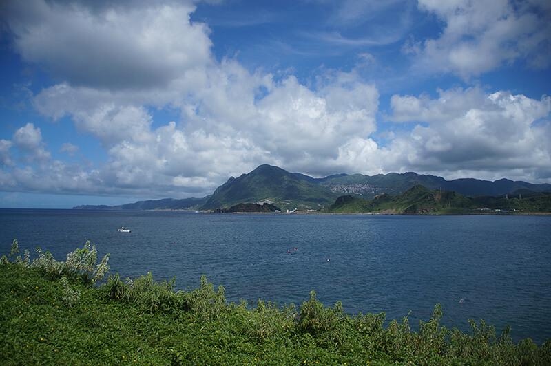 潮境公園眺望出去的基隆山跟九份