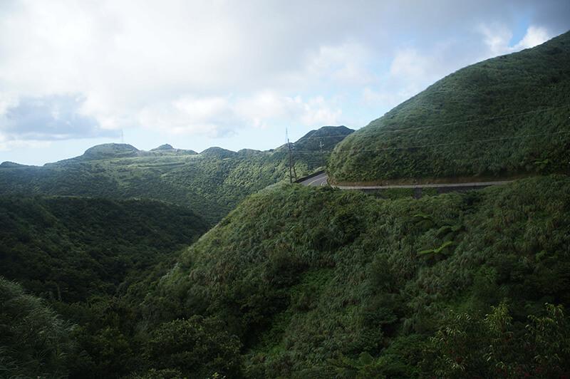 類抹茶山的不厭亭前方風景。
