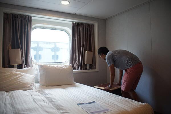 星夢郵輪探索夢號海景房,房間夠高,沒有壓迫感,很舒適