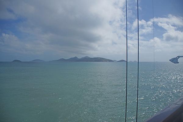 郵輪靠岸行程分享,前往馬祖的接駁小船看出去的風景
