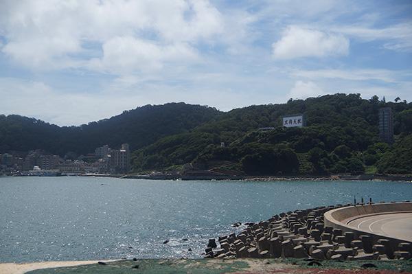 看出去的海景。