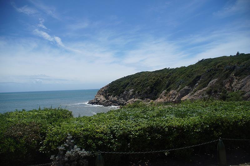 走向北海坑道時,右手邊的風景。