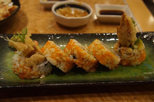 軟殼蟹壽司捲