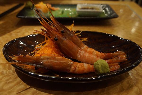 牡丹蝦生魚片,超級好吃