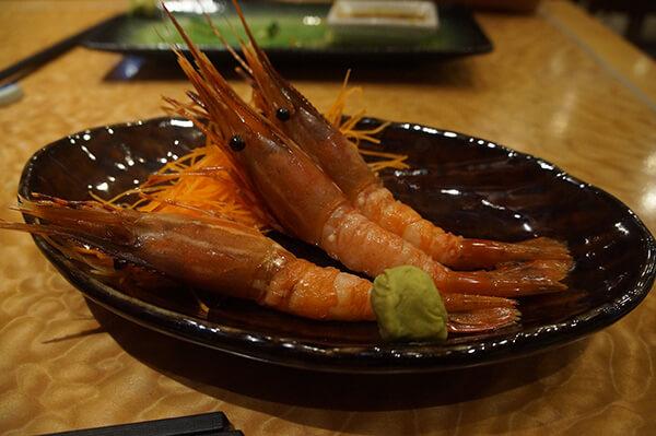 牡丹蝦生魚片