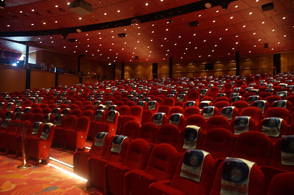 給大家看一下星座劇院的座位數