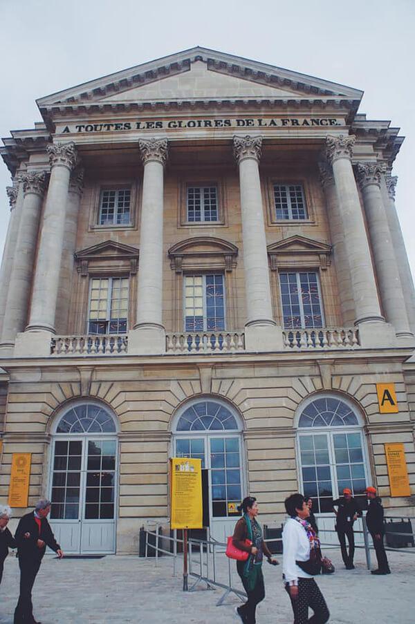 凡爾賽宮入口處下午三點的樣子,完全沒人