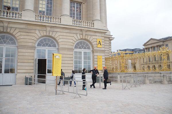凡爾賽宮進場入口。