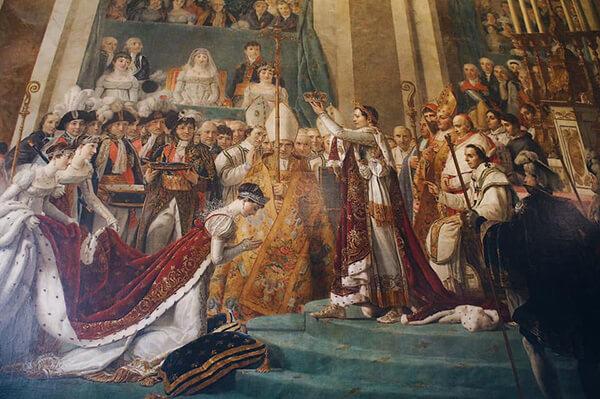 凡爾賽宮,加冕廳,拿破崙加冕圖。