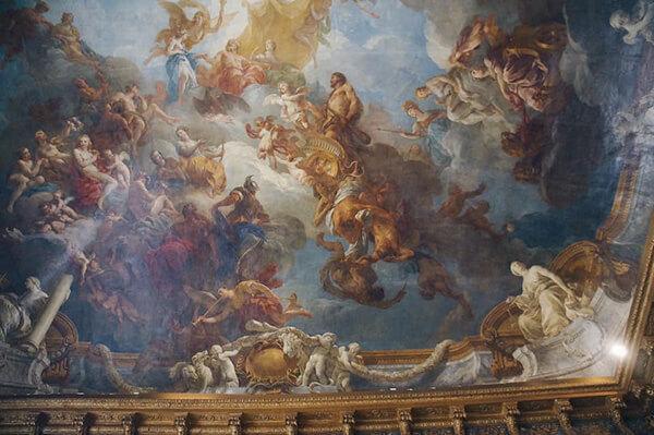 天頂的壁畫很厲害,非常立體!還有透視!